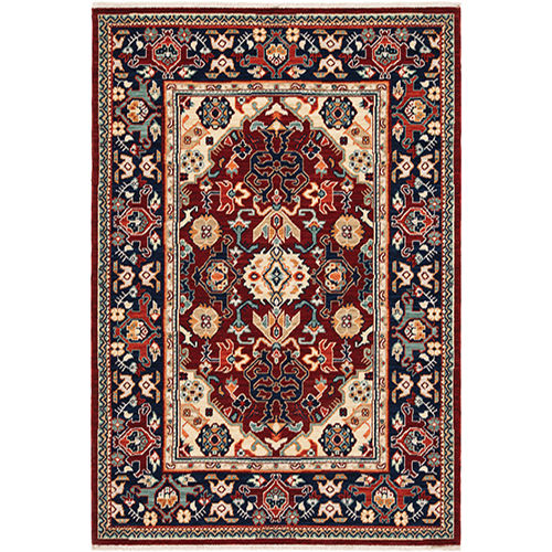 Lilihan Red Blue Rectangular: 6 Ft. 7 In. x 9 Ft. 6 In. Rug