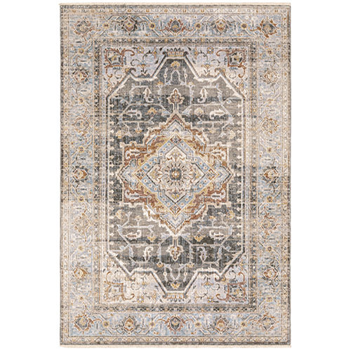 Maharaja Gray Blue Rectangular: 2 Ft. x 3 Ft. Rug
