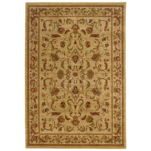 Oriental Weavers Allure Beige Rectangle: 5 ft. 3 in. x 7 ft. 6 in. Rug