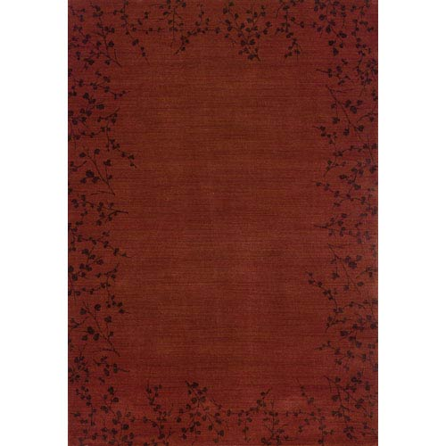 Oriental Weavers Allure Red Rectangle: 5 ft. 3 in. x 7 ft. 6 in. Rug