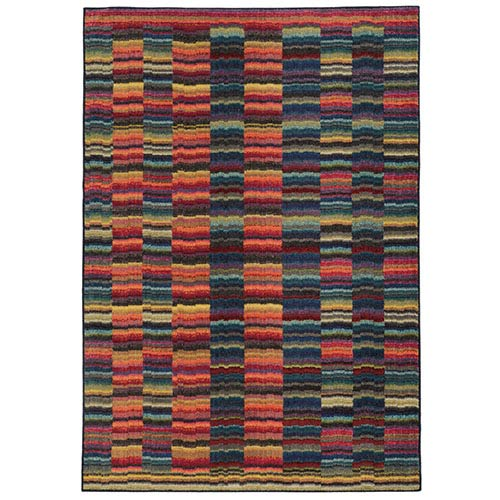 PANTONE Universe Expressions Red and Blue Rectangular: 5 Ft. 3 In. x 7 Ft. 6 In. Rug
