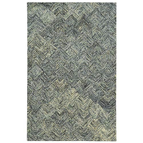 PANTONE Universe Colorscape Charcoal and Beige Rectangular: 5 Ft. x 8 Ft. Rug