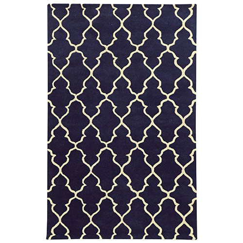 PANTONE Universe Optic Navy and Ivory Rectangular: 5 Ft. x 8 Ft. Rug