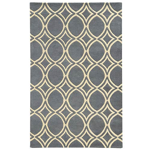 Optic Charcoal and Ivory Rectangular: 5 Ft. x 8 Ft. Rug