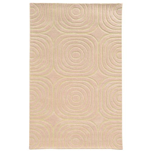 Optic Pink and Ivory Rectangular: 5 Ft. x 8 Ft. Rug