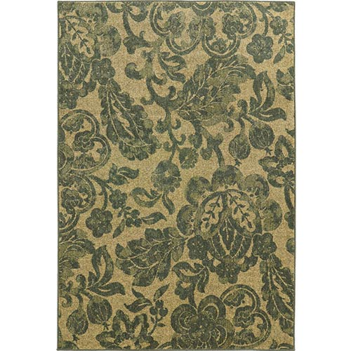 Voyage 8120G Beige and Blue Rectangular: 5 Ft. 3 In. x 7 Ft. 6 In. Rug