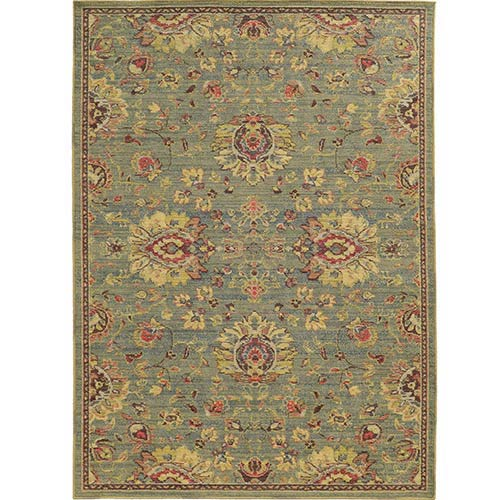 Tommy Bahama Area Rugs Cabana 002L2 Blue and Beige Rectangular: 5 Ft. 3 In. x 7 Ft. 6 In. Rug