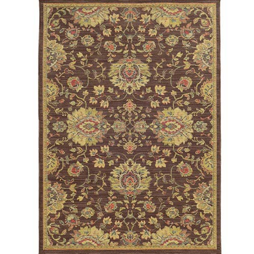 Cabana 002N2 Brown and Beige Rectangular: 5 Ft. 3 In. x 7 Ft. 6 In. Rug