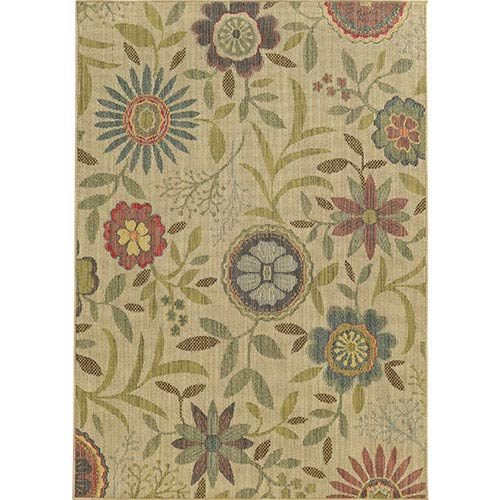 Cabana 1330W Multi-Color Rectangular: 5 Ft. 3 In. x 7 Ft. 6 In. Rug