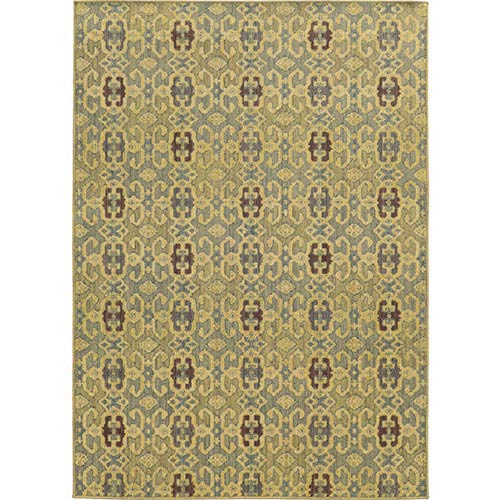 Tommy Bahama Area Rugs Cabana 5501G Blue and Beige Rectangular: 5 Ft. 3 In. x 7 Ft. 6 In. Rug