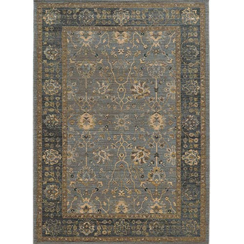 Tommy Bahama Area Rugs Vintage 53400 Blue and Beige Rectangular: 5 Ft. 3 In. x 7 Ft. 6 In. Rug