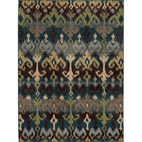 Tommy Bahama Area Rugs Vintage 8122N Multi-Color Rectangular: 5 Ft. 3 In. x 7 Ft. 6 In. Rug