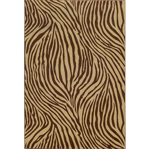 Tommy Bahama Area Rugs Voyage 093N0 Beige and Brown Rectangular: 5 Ft. 3 In. x 7 Ft. 6 In. Rug