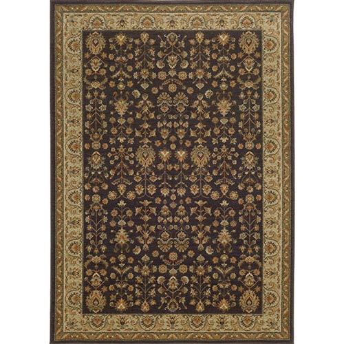 Tommy Bahama Area Rugs Voyage 116K0 Charcoal and Gold Rectangular: 5 Ft. 3 In. x 7 Ft. 6 In. Rug