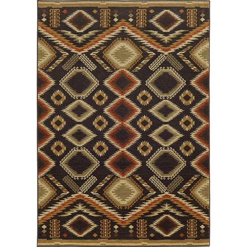 Tommy Bahama Area Rugs Voyage 5505K Black and Beige Rectangular: 5 Ft. 3 In. x 7 Ft. 6 In. Rug