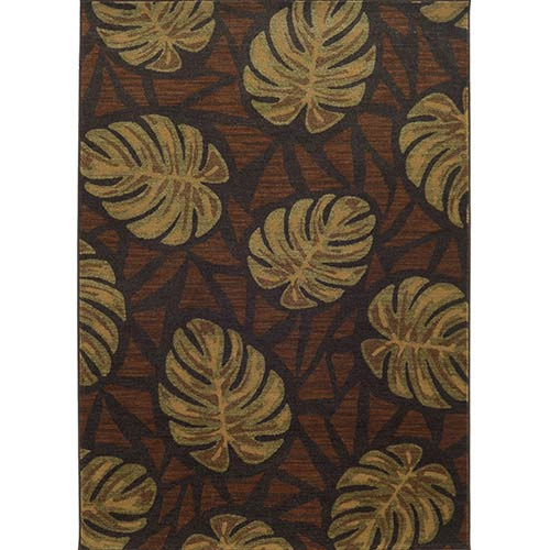 Voyage 5994N Charcoal and Brown Rectangular: 5 Ft. 3 In. x 7 Ft. 6 In. Rug