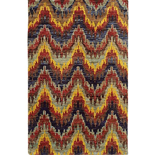 Tommy Bahama Area Rugs Ansley 50905 Multi-Color Rectangular: 5 Ft. x 8 Ft. Rug