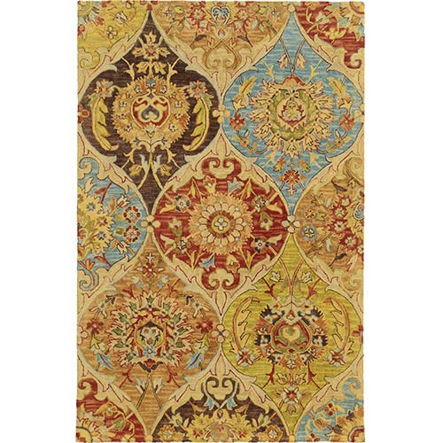 Tommy Bahama Area Rugs Jamison 53302 Multi-Color Rectangular: 5 Ft. x 8 Ft. Rug