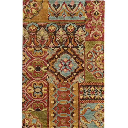 Tommy Bahama Area Rugs Jamison 53303 Multi-Color Rectangular: 5 Ft. x 8 Ft. Rug