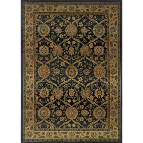 Kharma Blue Rectangle: 5 ft. 3 in. x 7 ft. 6 in. Rug