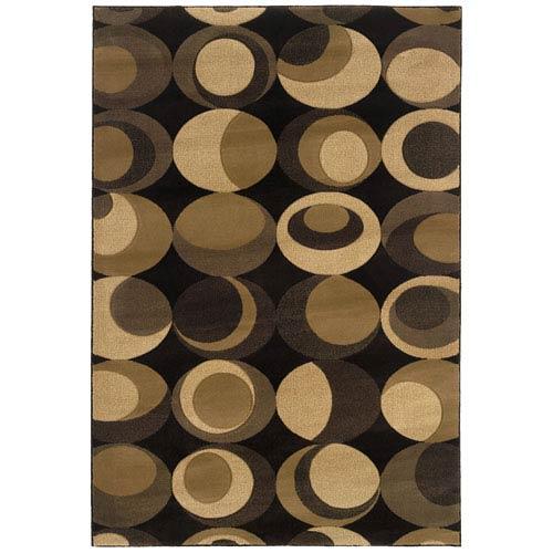 Oriental Weavers Tones Brown Rectangle: 5 ft. 3 in. x 7 ft. 9 in. Rug