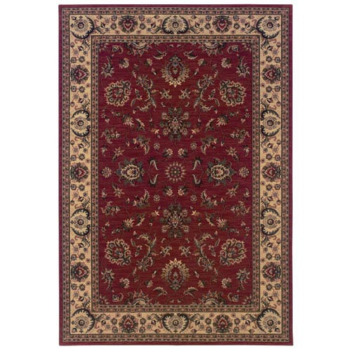 Oriental Weavers Ariana Red Rectangle: 5 ft. 3 in. x 7 ft. 9 in. Rug