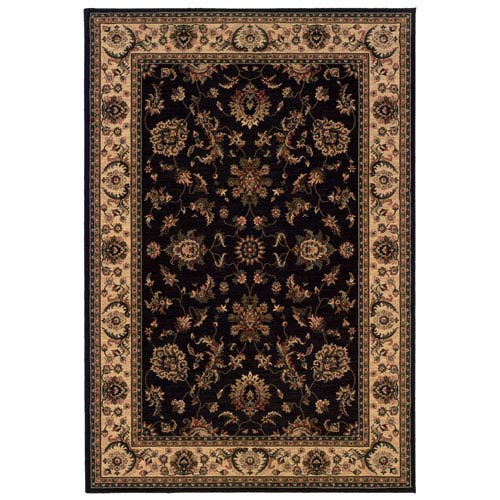 Oriental Weavers Ariana Black Rectangle: 5 ft. 3 in. x 7 ft. 9 in. Rug