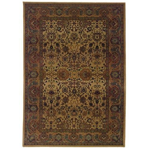 Oriental Weavers Kharma Beige Rectangle: 5 ft. 3 in. x 7 ft. 6 in. Rug
