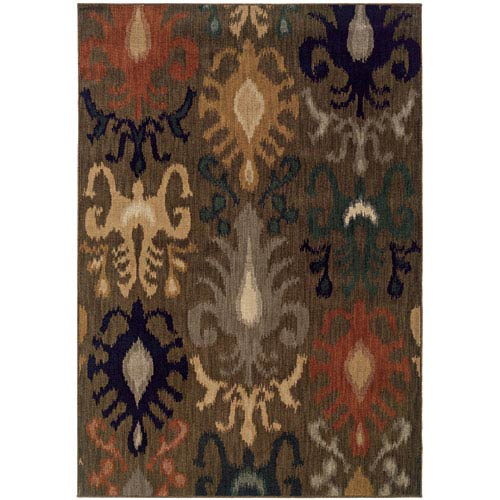Kasbah Multi-Colored Rectangular: 5 Ft. 3 In. x 7 Ft. 6 In. Rug