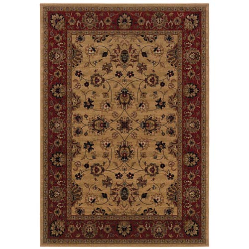 Oriental Weavers Cambridge Tan Rectangular: 5 Ft. 3 In. x 7 Ft. 6 In. Rug