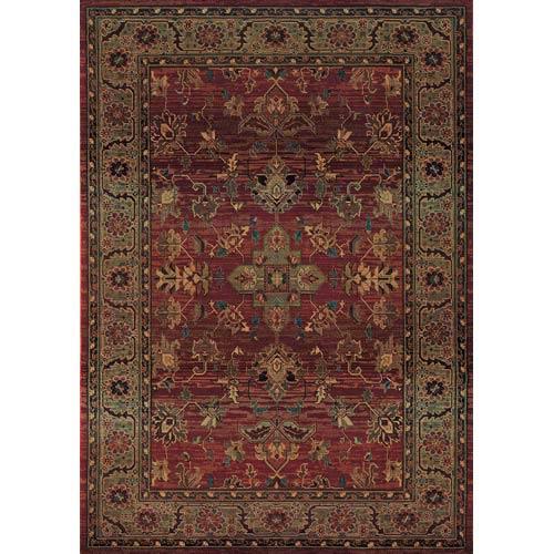 Oriental Weavers Kharma Red Rectangle: 5 ft. 3 in. x 7 ft. 6 in. Rug