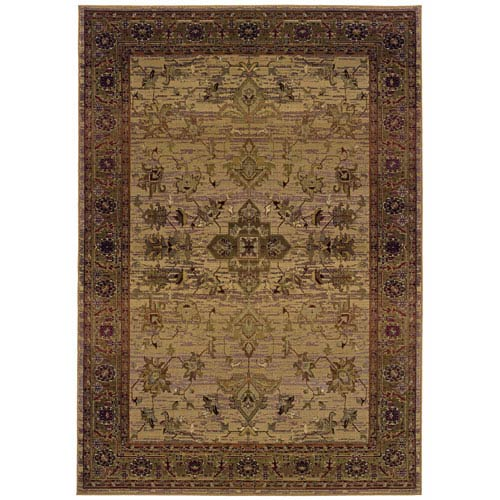 Kharma II Red Rectangle: 5 ft. 3 in. x 7 ft. 6 in. Rug
