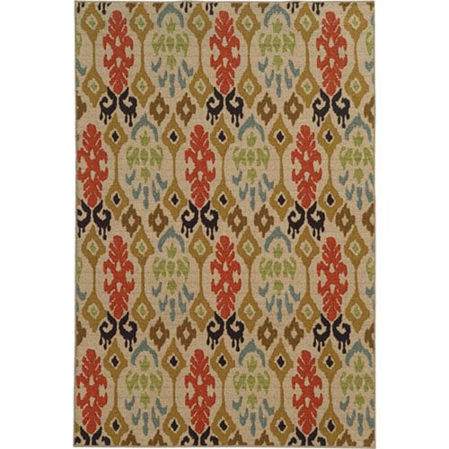 Arabella Multicolor Rectangular: 2 Ft. x 4 Ft. Rug