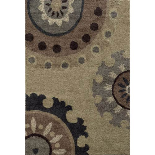 Covington Beige and Midnight Rectangular: 3 Ft. x 5 Ft. Rug