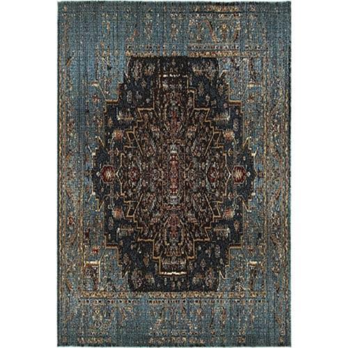 Oriental Weavers Empire Blue Runner: 2 Ft. 3-Inch x 7 Ft. 6-Inch