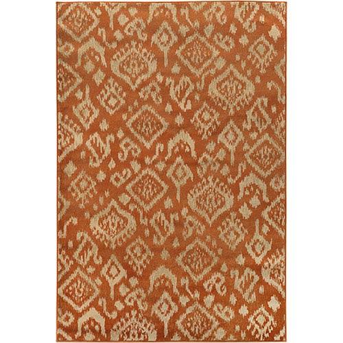 Oriental Weavers Ella Orange and Beige Rectangular: 2 Ft. x 3 Ft. Rug