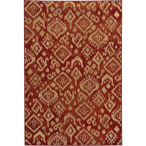 Oriental Weavers Ella Red and Beige Rectangular: 2 Ft. x 3 Ft. Rug