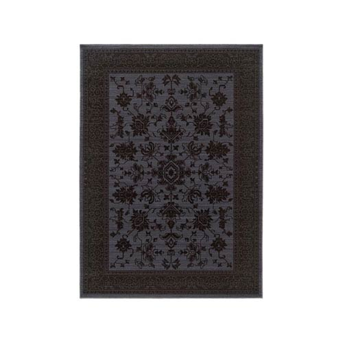 Oriental Weavers Foundry Blue Rectangular: 1 Ft. 10-Inch x 3 Ft. 3-Inch  Rug