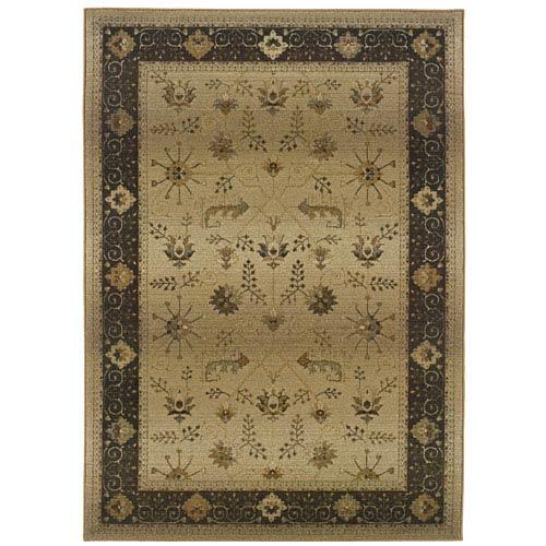 Oriental Weavers Genesis Brown Rectangular: 5 ft. 3 in. x 7 ft. 6 in. Rug