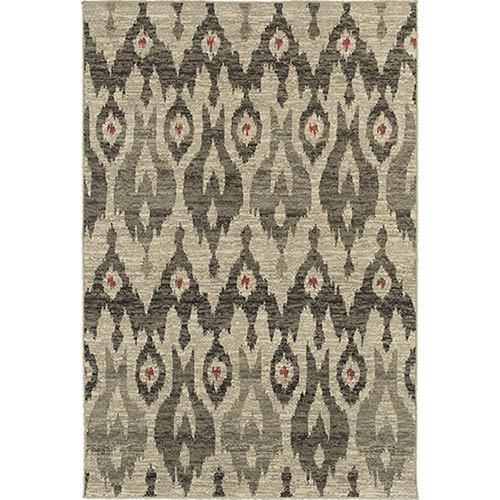 Oriental Weavers Highlands Ivory and Gray Rectangular: 2 Ft. x 3 Ft. Rug