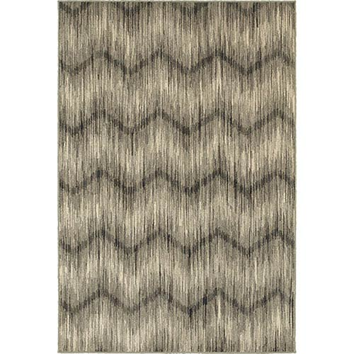 Oriental Weavers Highlands Gray and Ivory Rectangular: 2 Ft. x 3 Ft. Rug