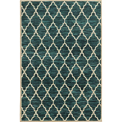 Harper Teal and Ivory Rectangular: 3 Ft. x 5 Ft. Rug