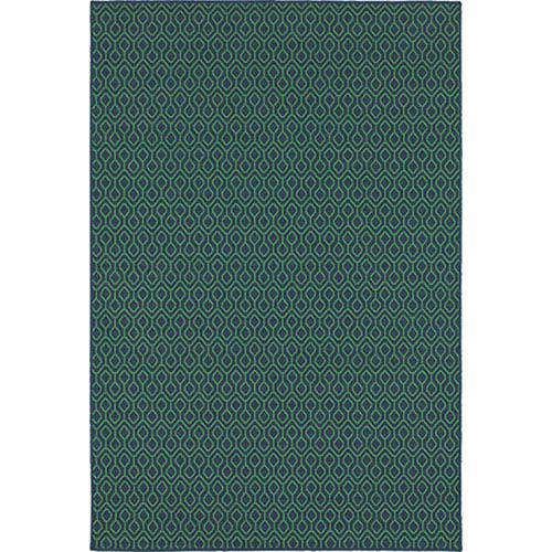 Oriental Weavers Meridian Navy and Green Rectangular: 2 Ft. x 3 Ft. Rug