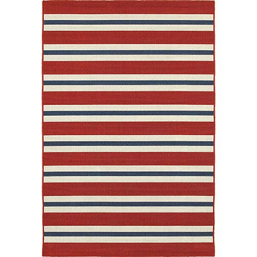 Meridian Red and Blue Rectangular: 2 Ft. x 3 Ft. Rug