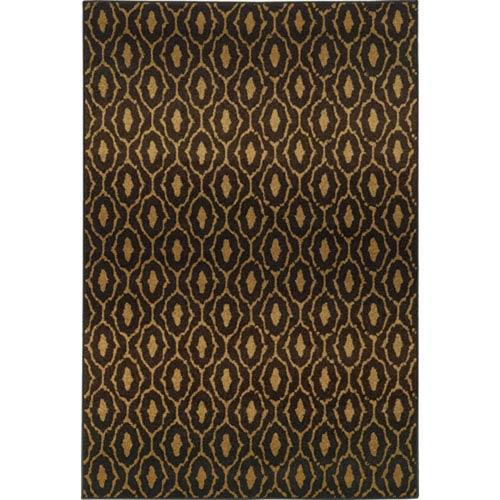 Oriental Weavers Parker Black and Beige Rectangular: 2 Ft. x 3 Ft. Rug