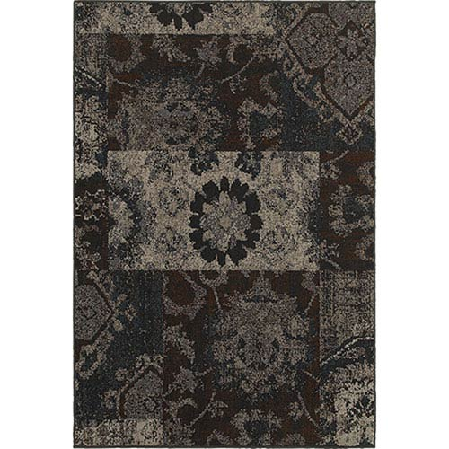Oriental Weavers Revival Charcoal Rectangular: 1 Ft. 10-Inch x 3 Ft. 3-Inch  Rug