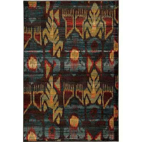 Oriental Weavers Sedona Charcoal and Blue Rectangular: 2 Ft. x 3 Ft. Rug