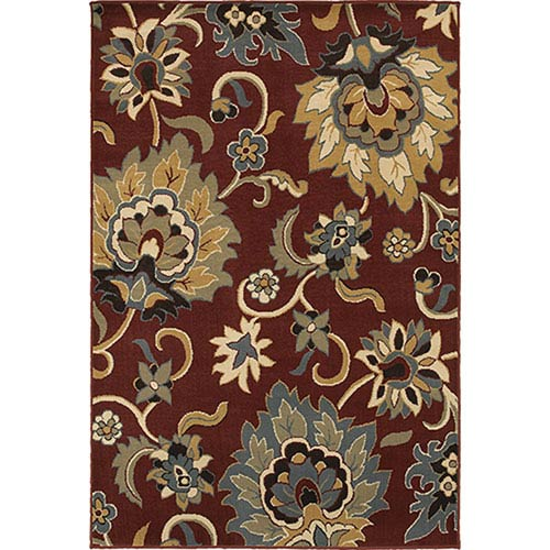 Oriental Weavers Stratton Red and Gold Rectangular: 2 Ft. x 3 Ft. Rug
