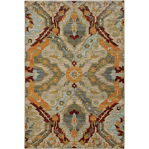 Sedona Beige and Orange Rectangular: 2 Ft. x 3 Ft. Rug