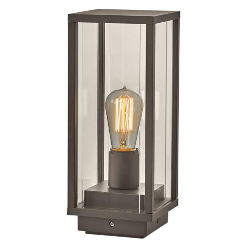 PLC Lighting Dreiden Bronze 14-Inch One-Light Outdoor Post Mount with Clear Glass